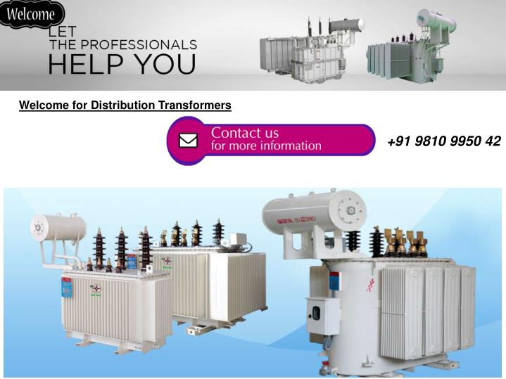 Welcome for Distribution Transformers