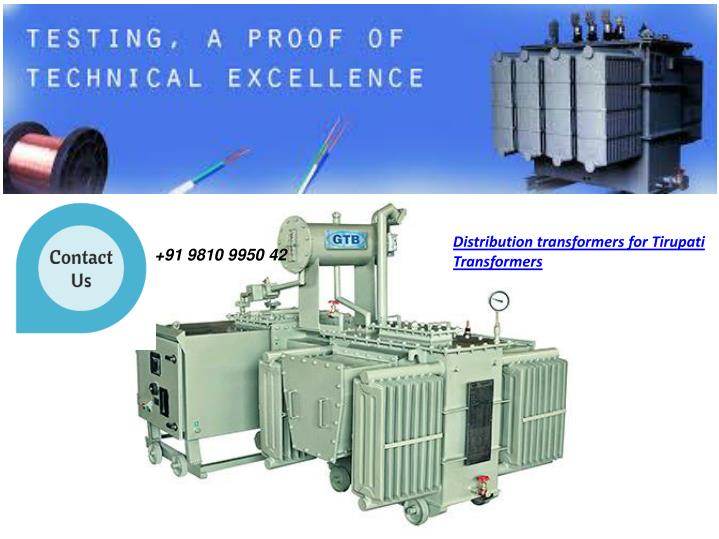 Distribution transformers for Tirupati Transformers