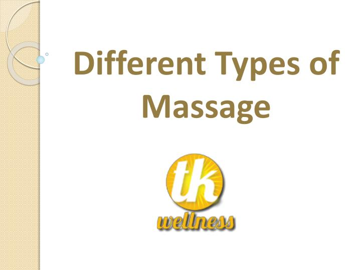 Different Types of Massage