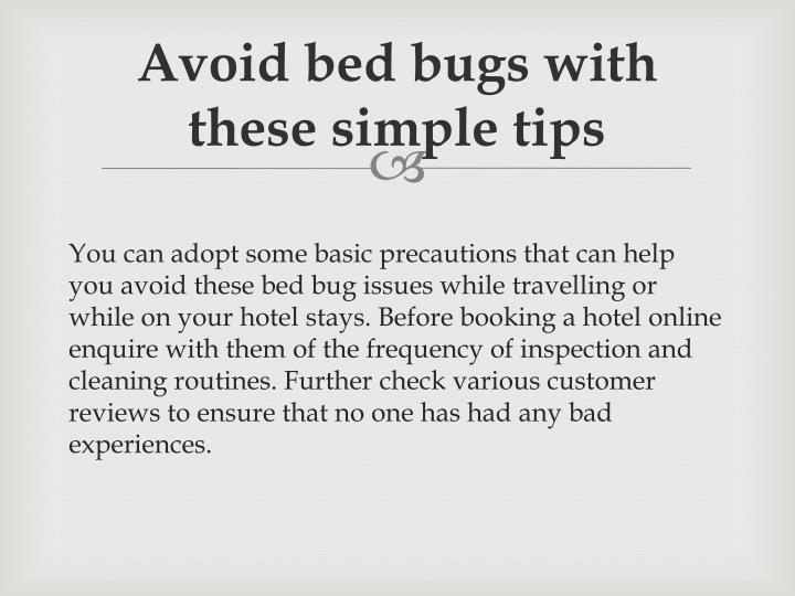 Avoid bed bugs with these simple
