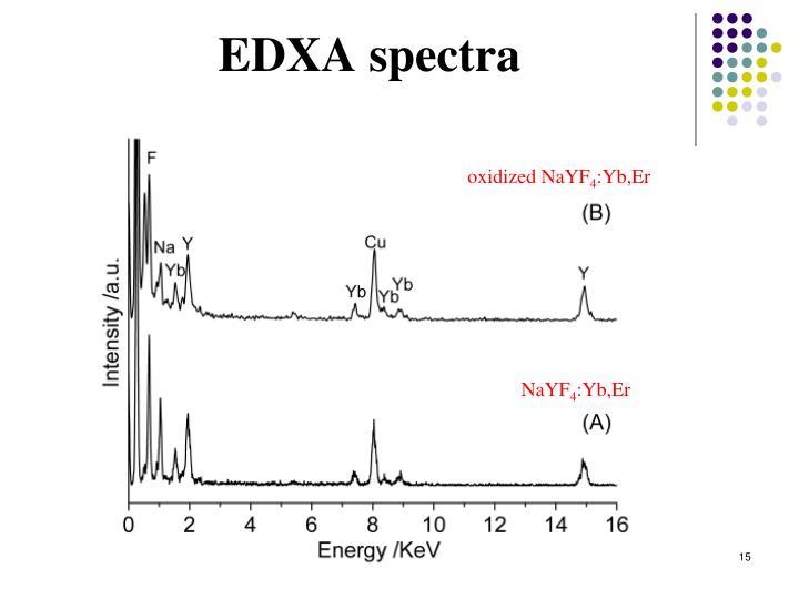 EDXA spectra