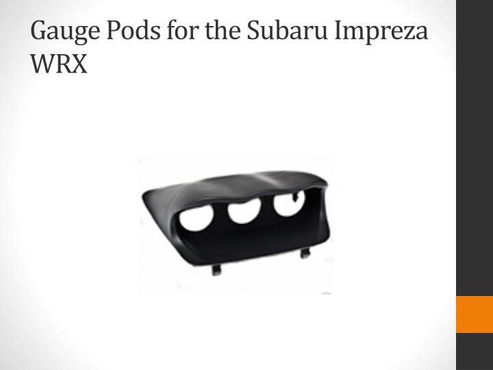 Gauge Pods for the Subaru
