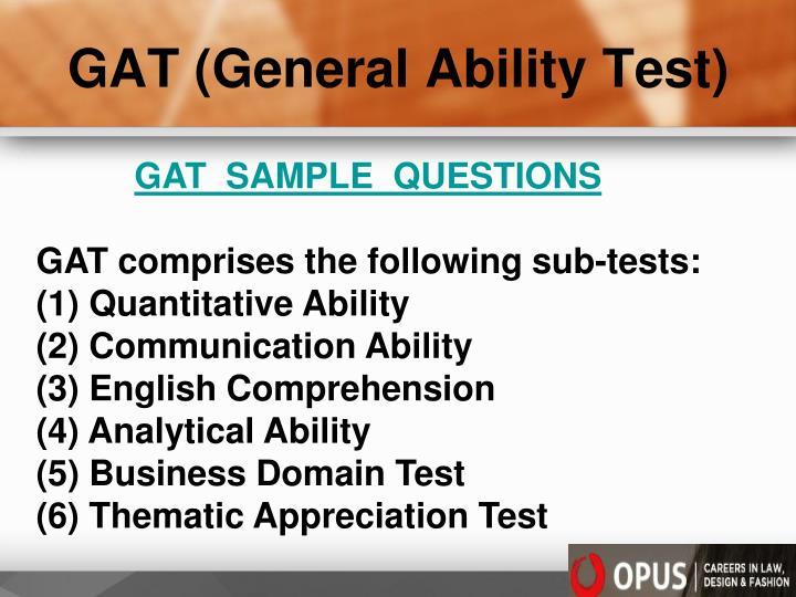 GAT (General Ability Test)