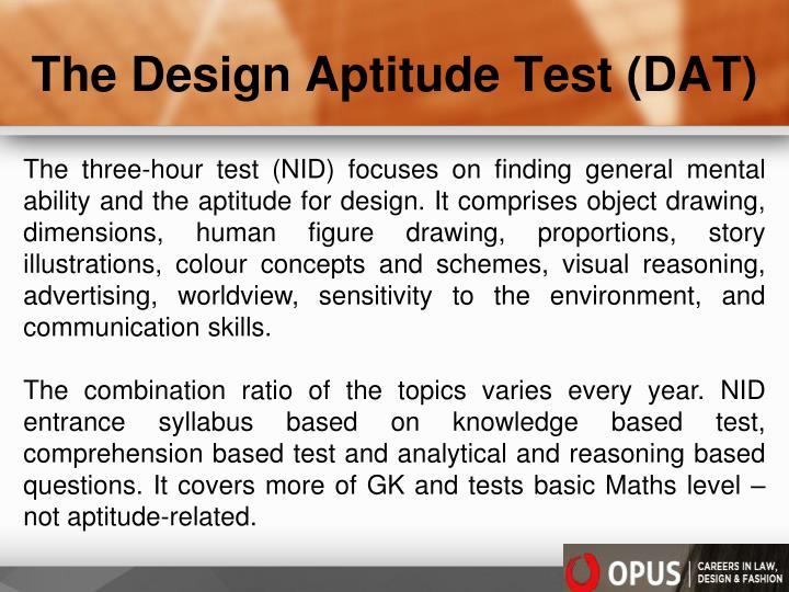 The Design Aptitude Test (DAT)