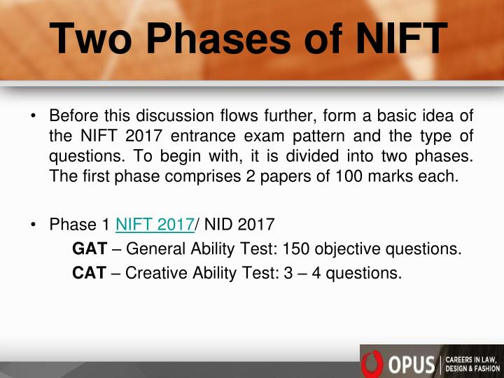 Two Phases of NIFT