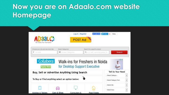 Now you are on Adaalo.com website Homepage