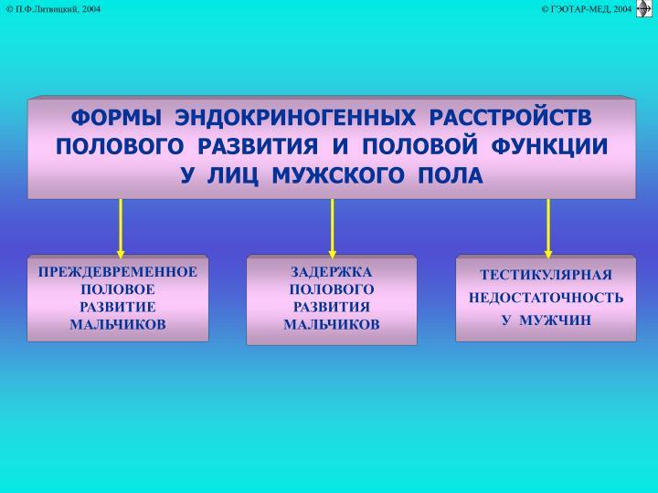 ФОРМЫ  ЭНДОКРИНОГЕННЫХ  РАССТРОЙСТВ