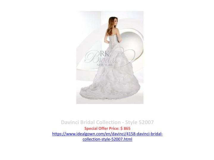 Davinci Bridal Collection - Style 52007