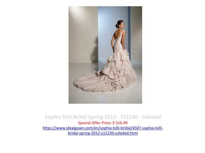 Sophia Tolli Bridal Spring 2012 - Y11230 - Soledad