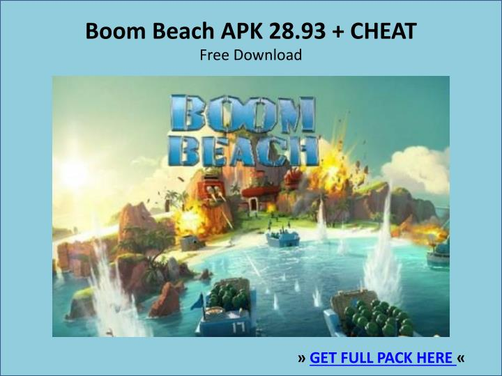 Boom beach apk 28 93 cheat