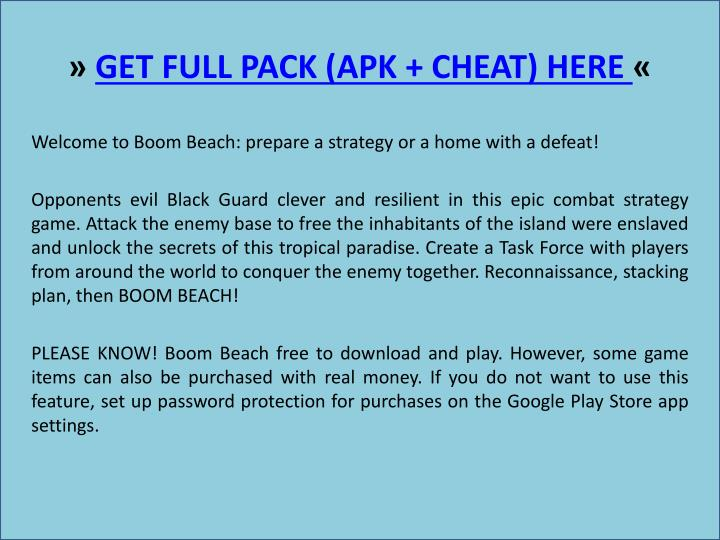 Get full pack apk cheat here