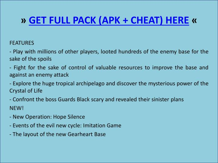 Get full pack apk cheat here1