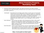 about premiere property marketing team