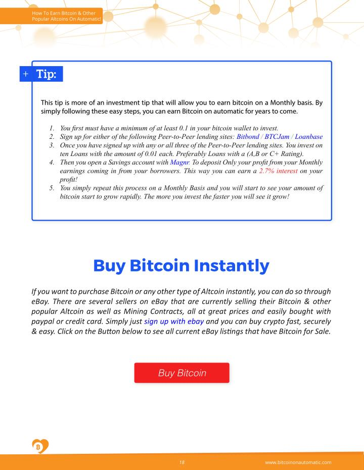 How To Earn Bitcoin & Other