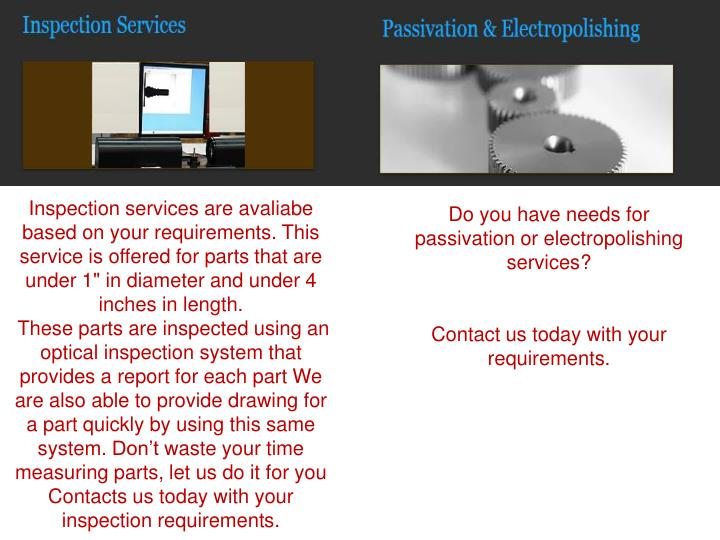 Inspection services are