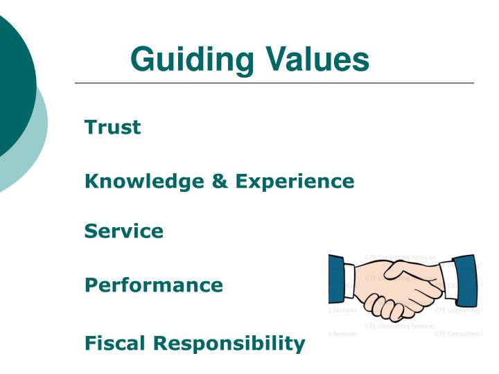 Guiding values