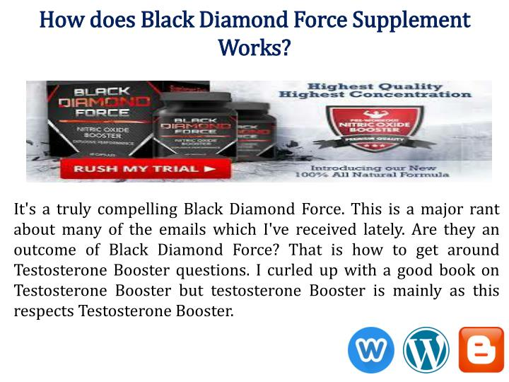 How does Black Diamond Force Supplement
