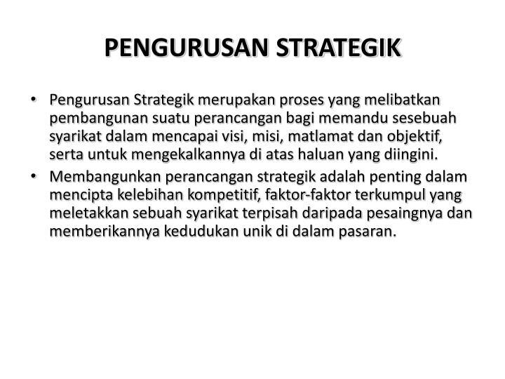 PENGURUSAN STRATEGIK