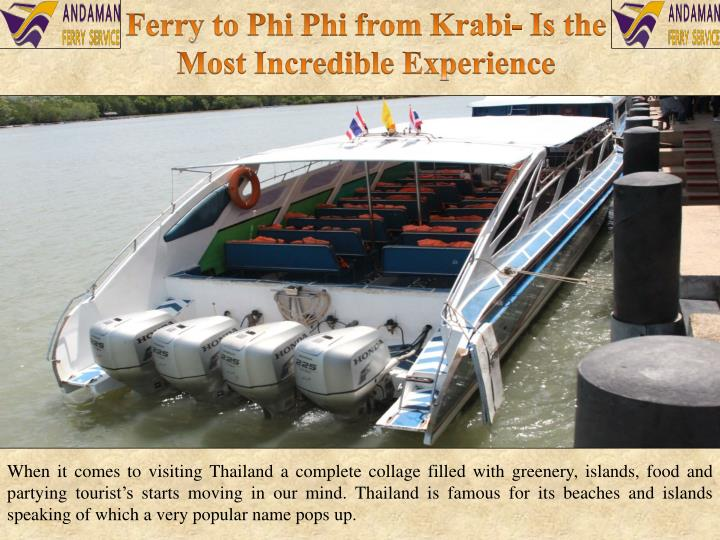 Ferry to Phi