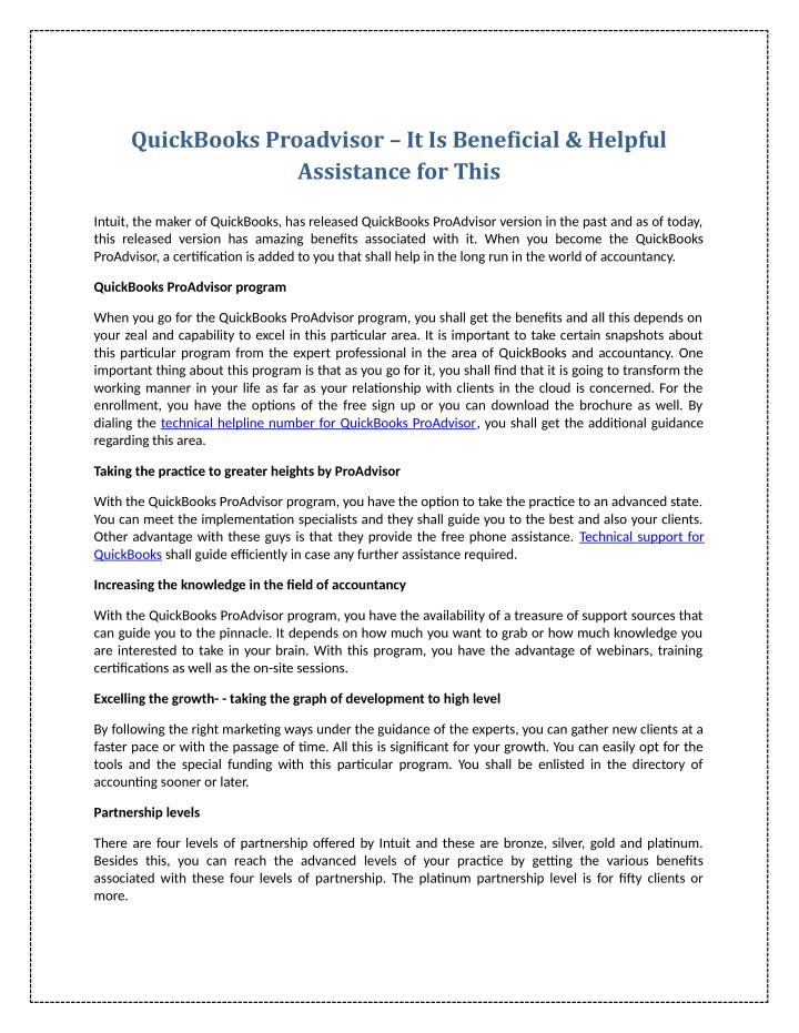 QuickBooks Proadvisor – It Is Beneficial & Helpful