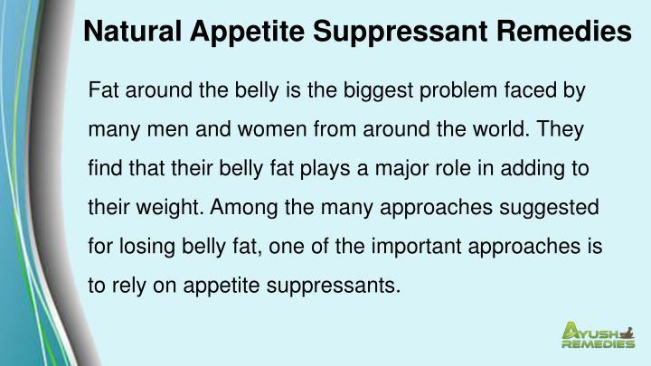 Natural Appetite Suppressant Remedies