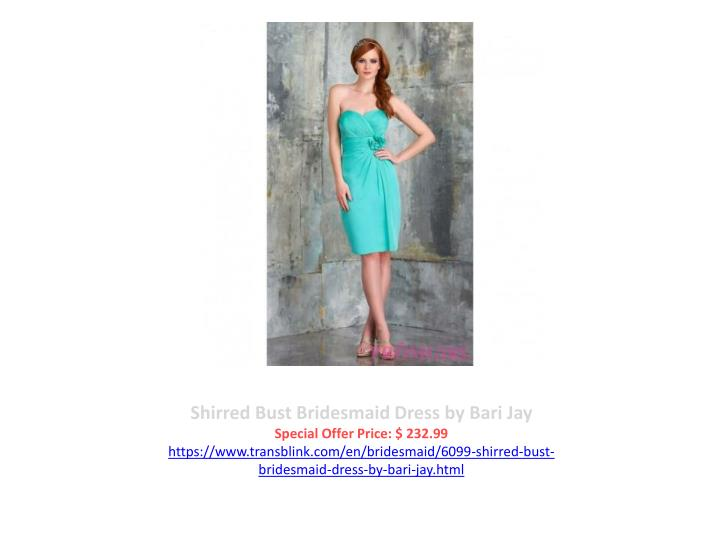 Shirred Bust Bridesmaid Dress by Bari Jay