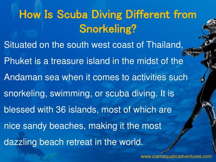 How Is Scuba Diving Different from Snorkeling?
