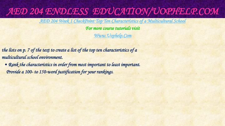 Aed 204 endless education uophelp com2