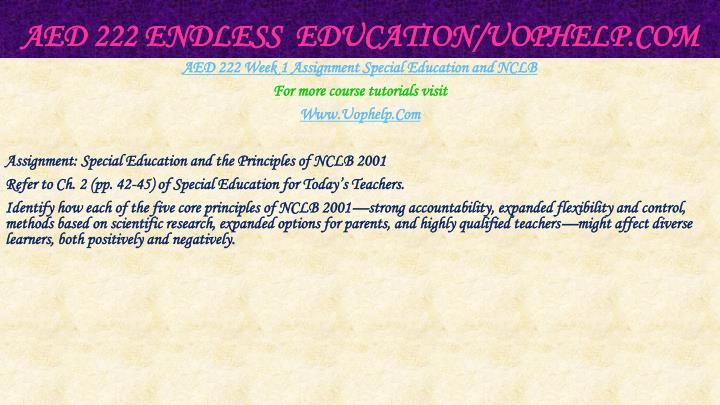 Aed 222 endless education uophelp com2