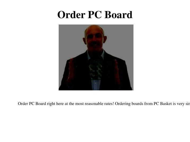 Order PC Board