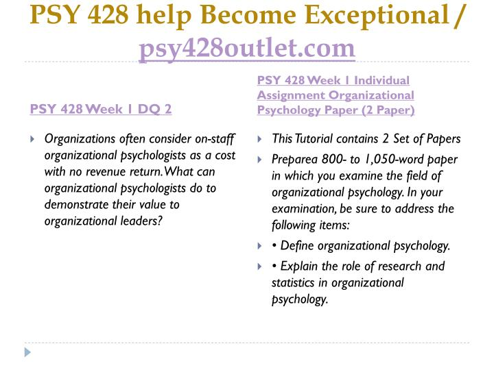 Psy 428 help become exceptional psy428outlet com2