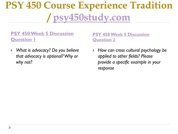 PSY 450 Course