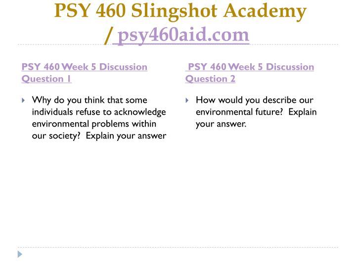 PSY 460
