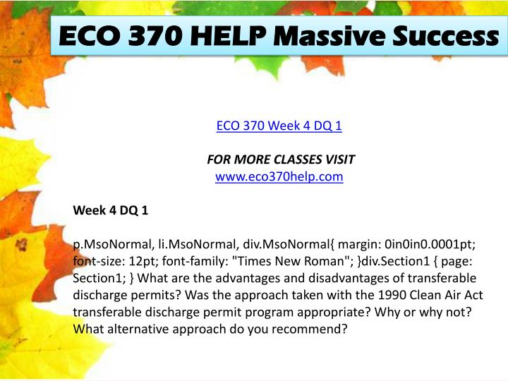 ECO 370 HELP Massive Success