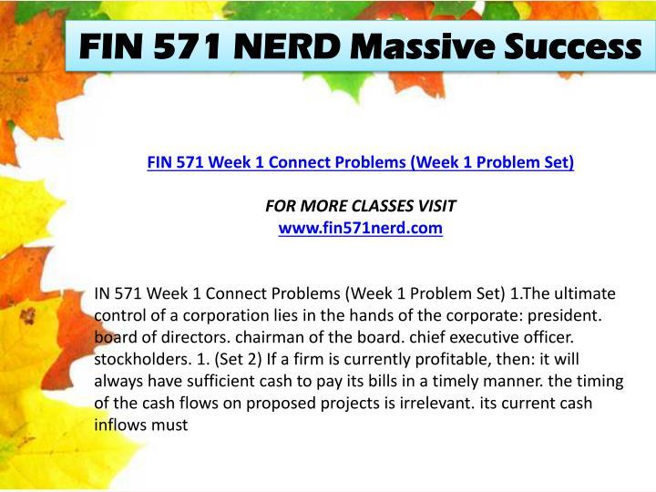 FIN 571 NERD Massive Success