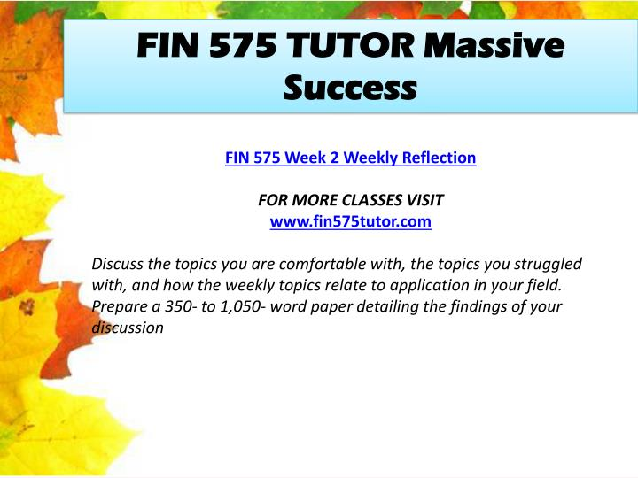 FIN 575 TUTOR Massive Success