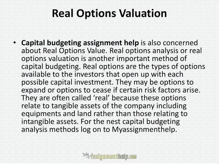 Real Options Valuation