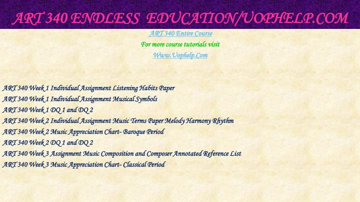 Art 340 endless education uophelp com1