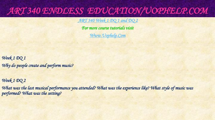 Art 340 endless education uophelp com2