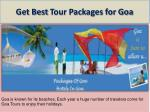 get best tour packages for goa