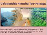 unforgettable himachal tour packages