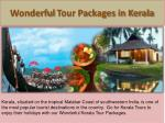 wonderful tour packages in kerala
