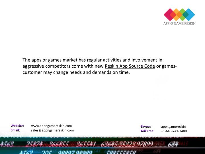 The apps or games market has regular activities and involvement in