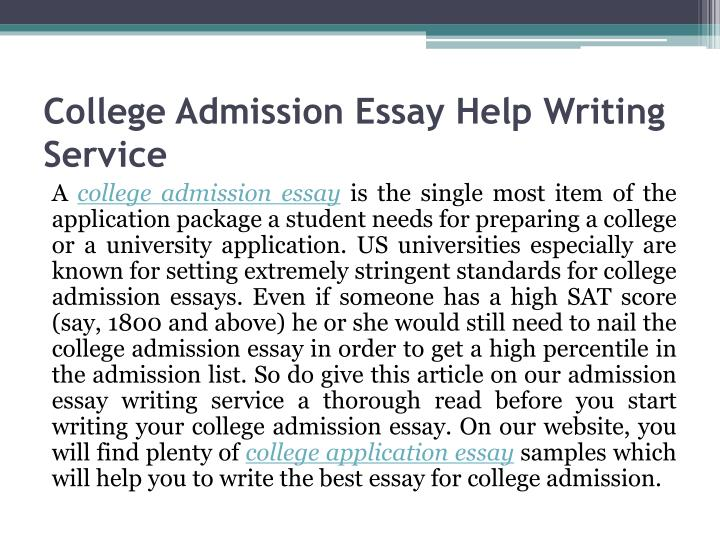 College Admission Essay Help Writing