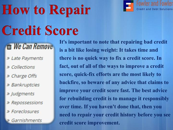 How to Repair Credit Score