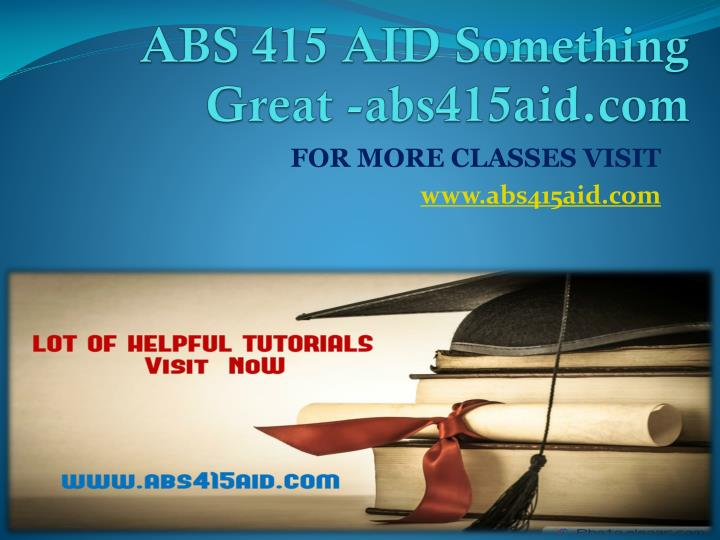 Abs 415 aid something great abs415aid com