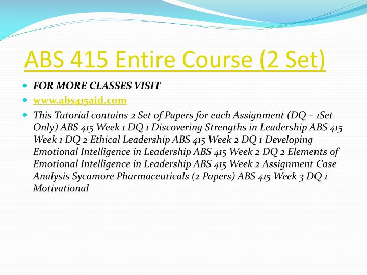 Abs 415 entire course 2 set