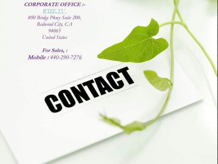 CORPORATE OFFICE :-