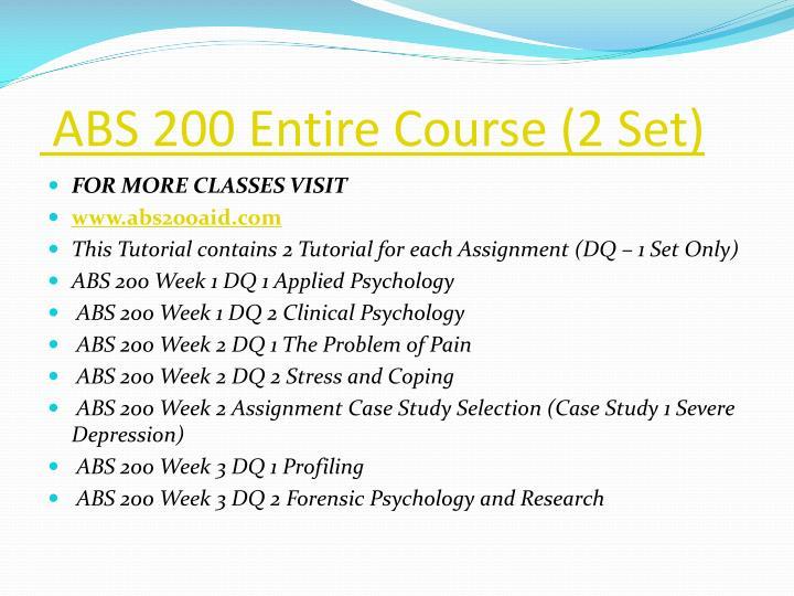 ABS 200 Entire Course (2 Set)