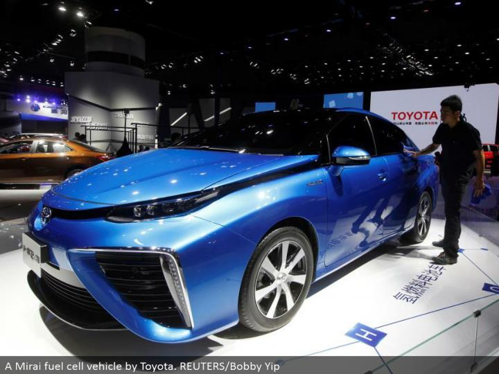 A Mirai energy component vehicle by Toyota. REUTERS/Bobby Yip